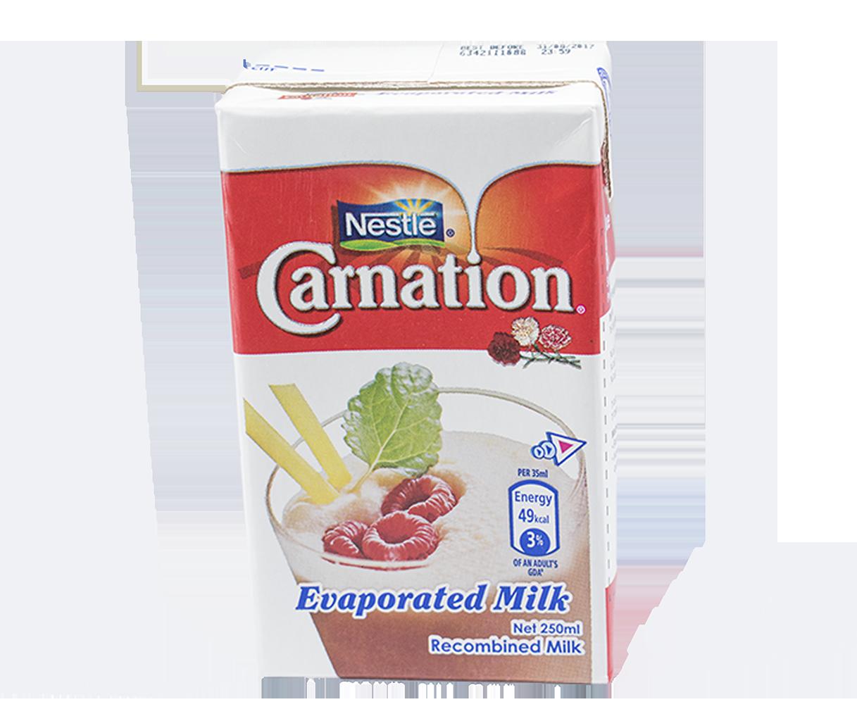 CARNATION Full Cream Evaporated Milk 250ml Carton