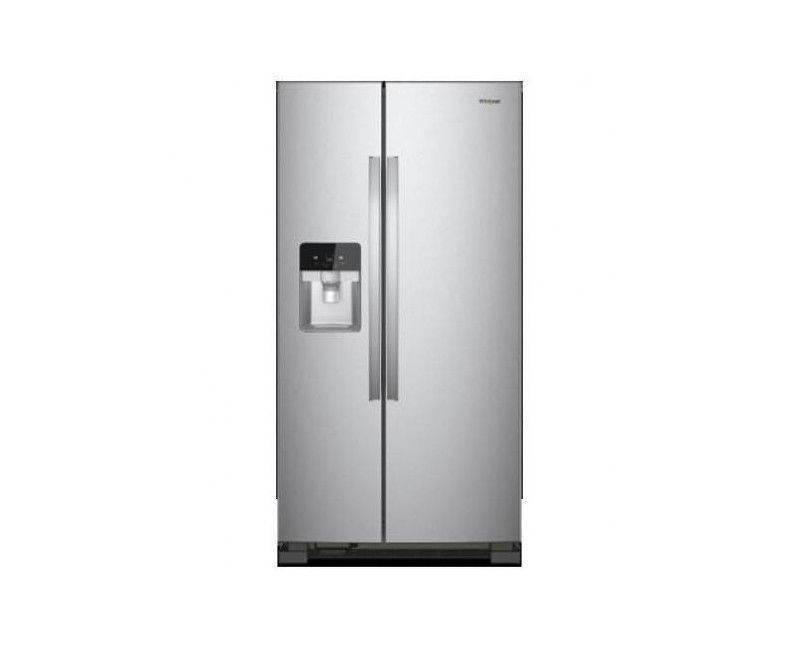 Whirlpool 25 cu.ft Side by Side Stainless Steel Refrigerator with Water and Ice Dispenser