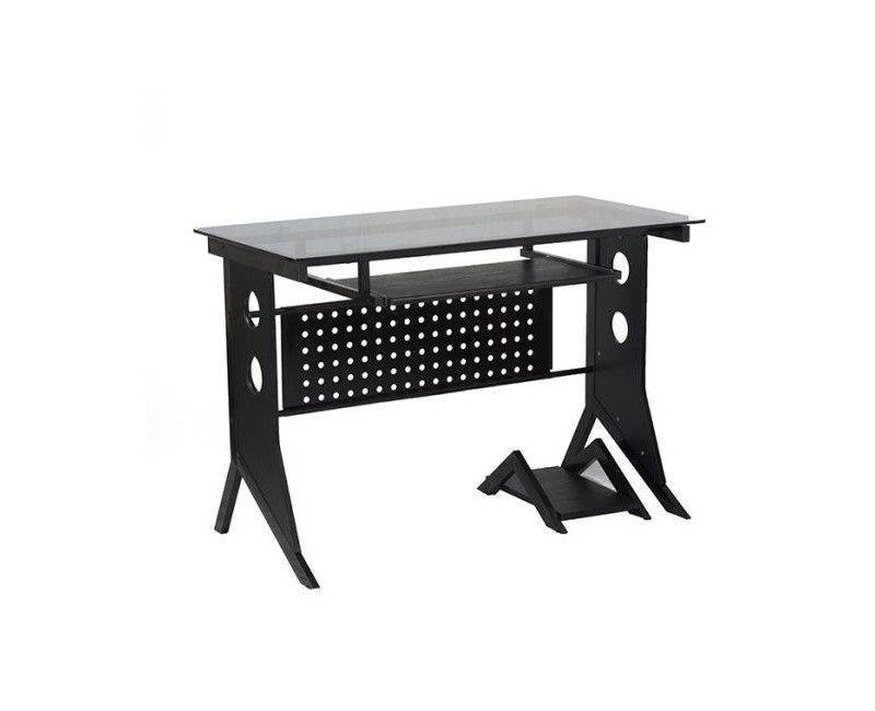 Xtech CT-1211 Multi Level Computer Desk Black with Tempered Glass Top