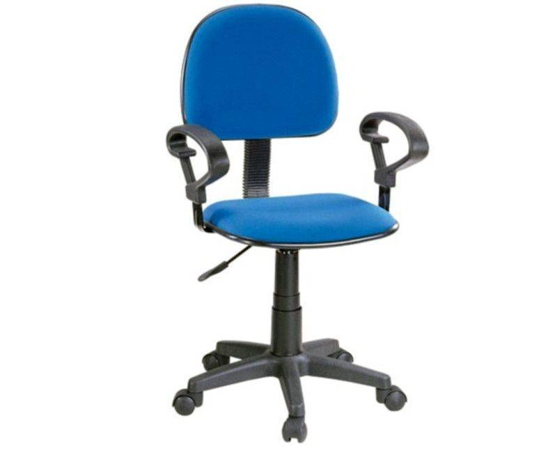 QZY-H4 Blue Computer Chair with Arm Rest