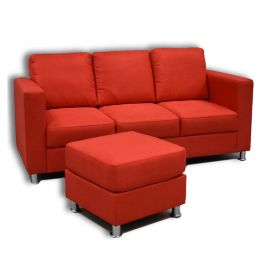 The Manhattan 3 Seater Sofa with mobile Ottaman