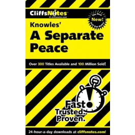 A Separate Peace (Cliffs Notes S.)by Charles Higgins, Regina Higgins & Cary M. Roberts