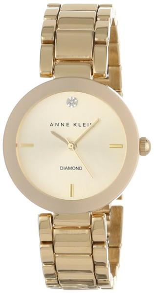 Anne Klein Women's Diamond Accent Gold-Tone Bracelet AK-1362