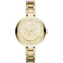 Armani Exchange Gold-Tone Crystal Dial Ladies Watch AX4224