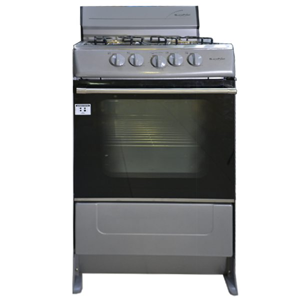 Blackpoint Elite Silver 4 Burner 20 Inch Gas Stove
