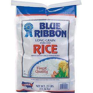 Blue Ribbon Long Grain White Rice 25lb