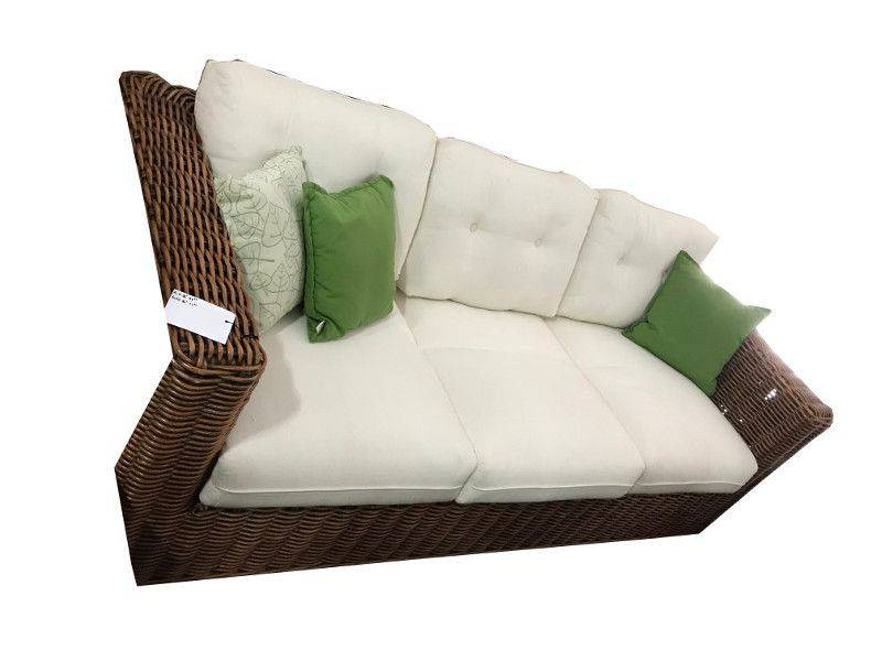 Calpe Three Piece Sofa Set One Three Seater Sofa And Two Rattan Armchairs