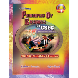 Carlong Principle of Business for CSEC With SBA, Study Guide & Exercises by Karlene Robinson & Sybile Hamil