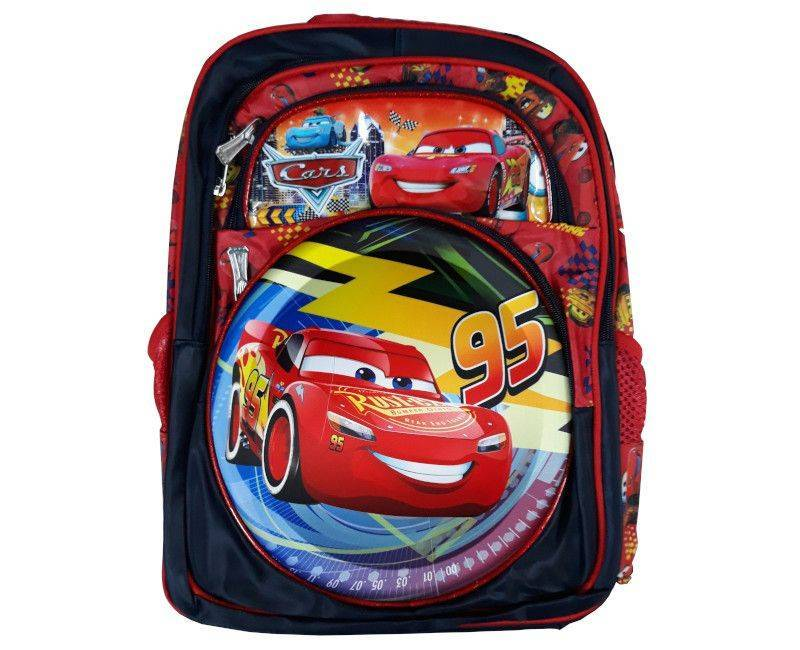 Cars Character 4 Zipper Section School Bag