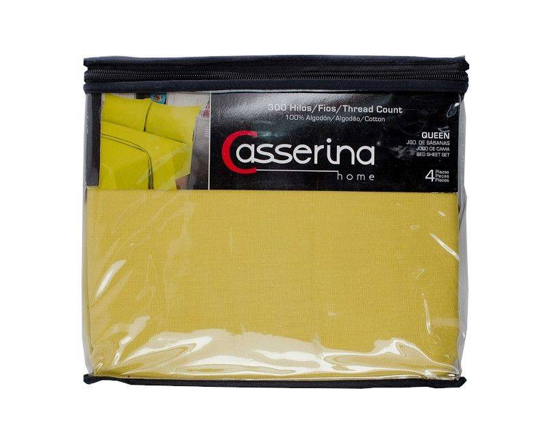 Casserina Home 300 Count Queen 4-Piece Bed Sheet Set