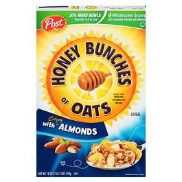 Post Honey Bunches Of Oats Almond Cereal 18 Ounces