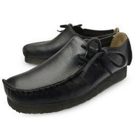 Clarks Lugger Black Slip on Loafers for Men-9.5
