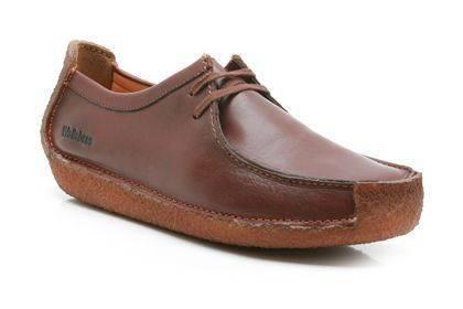Clarks Natalie Chestnut Leather Moccasins for Men