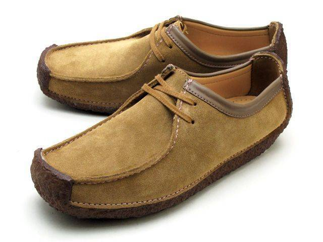 Clarks Natalie Oakwood Suede Moccasin Shoes for Men