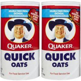 Quaker Oats Quick 1 Minute Oats 80 oz x 2 Bags
