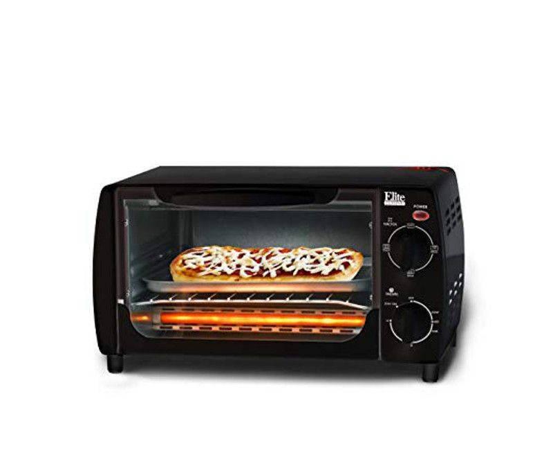 Elite Cuisine 4 Slice Toaster Oven Broiler Model EKA-9210XB