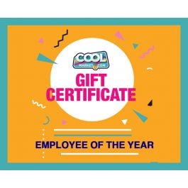 Employee of the Year Gift Certificate $2,000 - $5,000