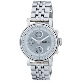 Fossil Women's ES2198 Stainless Steel Bracelet Silver Analog Dial Watch
