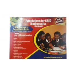 Foundations for CSEC Mathematics Workbook New Version by Akbar Publishers