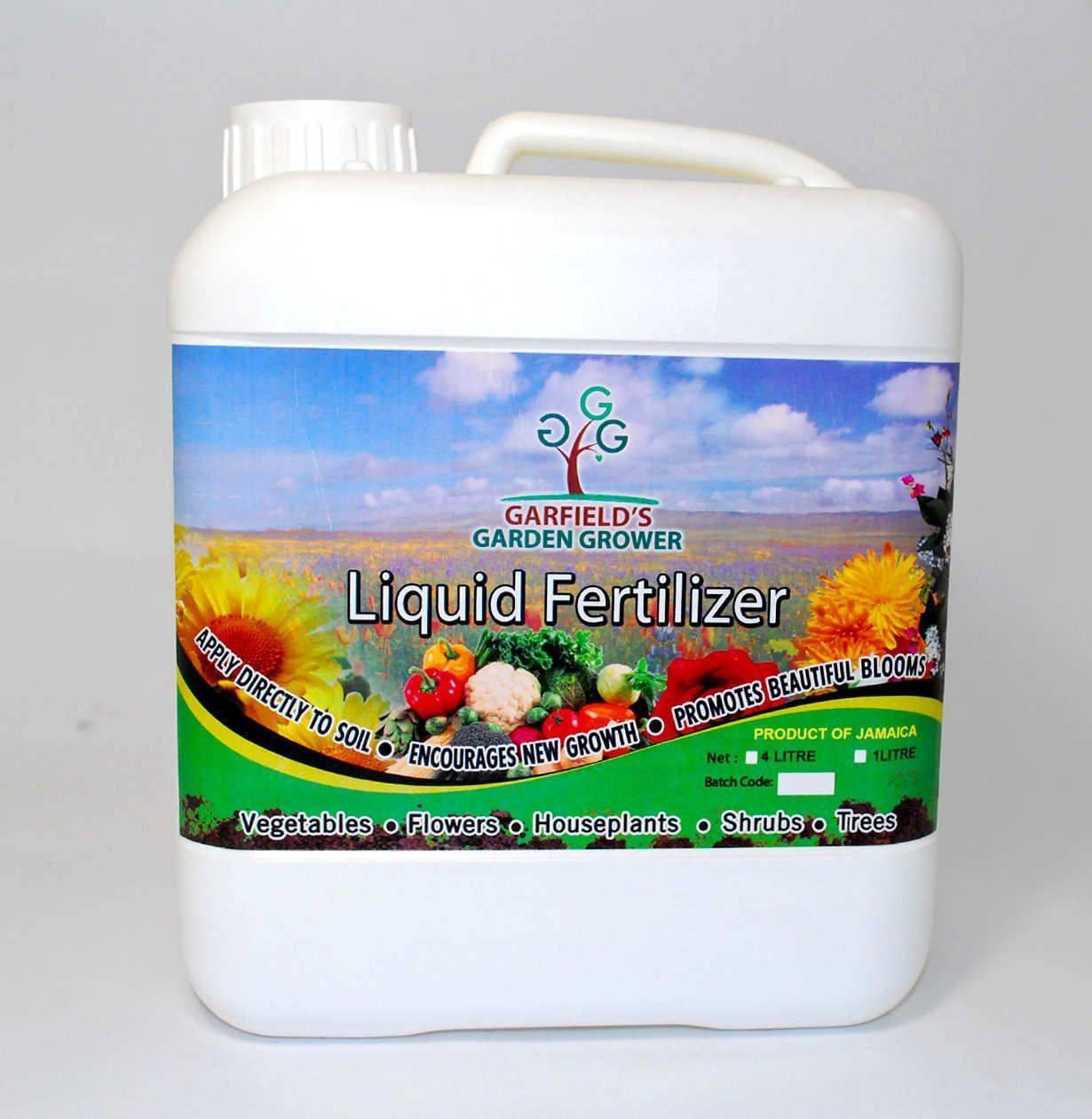 Garfield's Garden Grower 4L Liquid Fertilizer