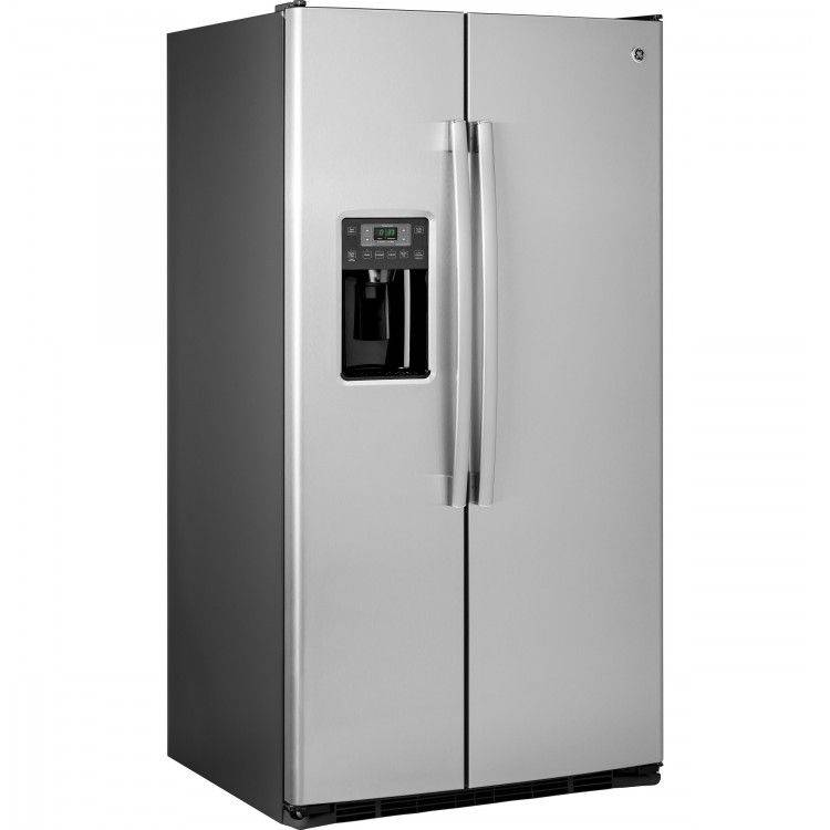 GE GSE25GSHSS Side by Side Refrigerator with Thru-the-Door Ice and Water
