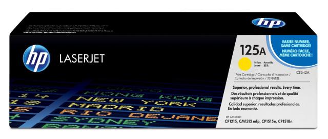 HP 125A CB542A Yellow LaserJet Toner Cartridge