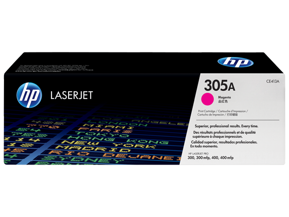 HP CE413A 305A Magenta LaserJet Toner Cartridge
