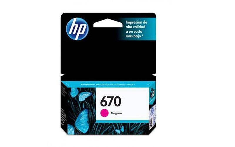 HP 670 Tri-Color Original Ink Cartridge 3 Pack