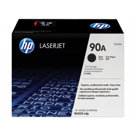 HP 90A Black Original LaserJet Toner Cartridge (CE390A)