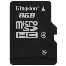 Kingston 8GB microSDHC Class 4 Flash Card SDC4/8GB