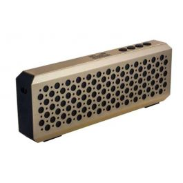 RefleXion KWS-614GD Gold Metallic Portable Speaker with Bluetooth Wireless Technology