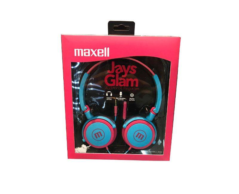 Maxell Jays Glam Audio Comfort Fit With Built In Microphone Deep Bass Headphones