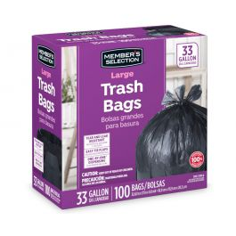 10, 33 GALLONS Purple Trash Bags