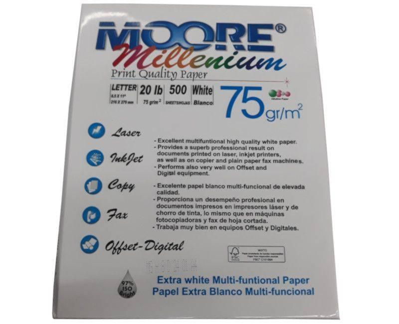 Moore Millenium Letter Size Copy Paper