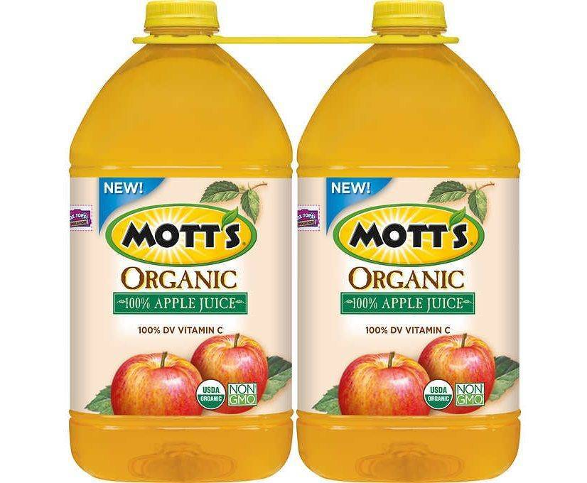 Mott's Organic Apple Juice 128 oz  2 Count
