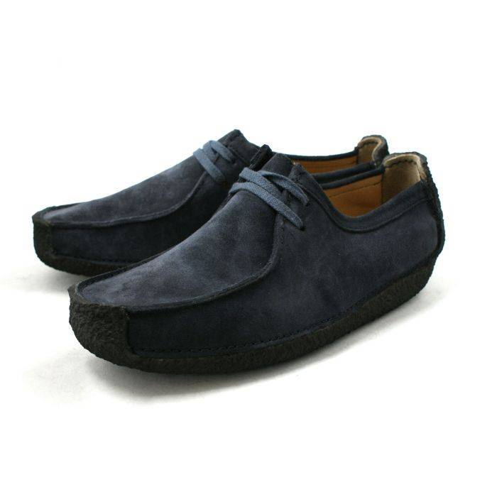 Clarks Natalie Navy Suede Shoe for Men-8.5