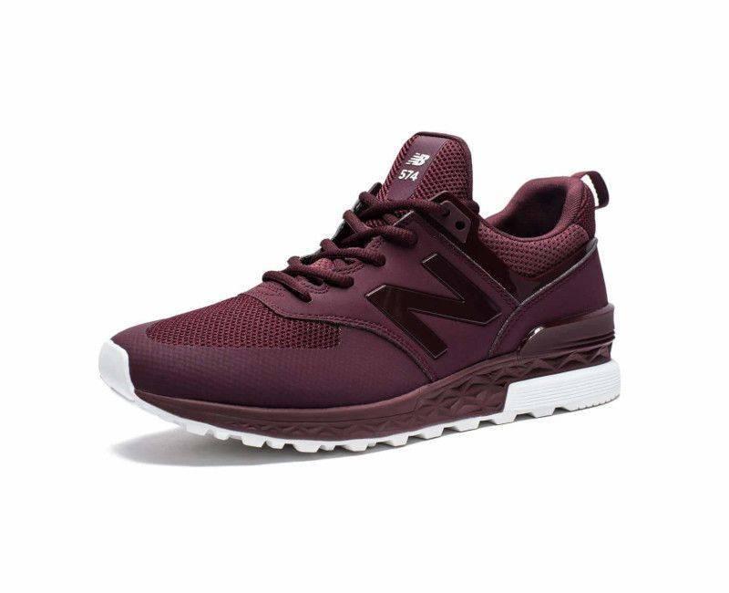 online store d092b c9e89 NB New Balance Men's MS 574 SBG Burgundy Trainer Sneakers