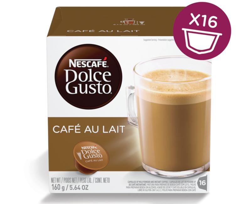 NESCAFÉ Dolce Gusto Café au Lait Coffee 16 Capsules Per Box