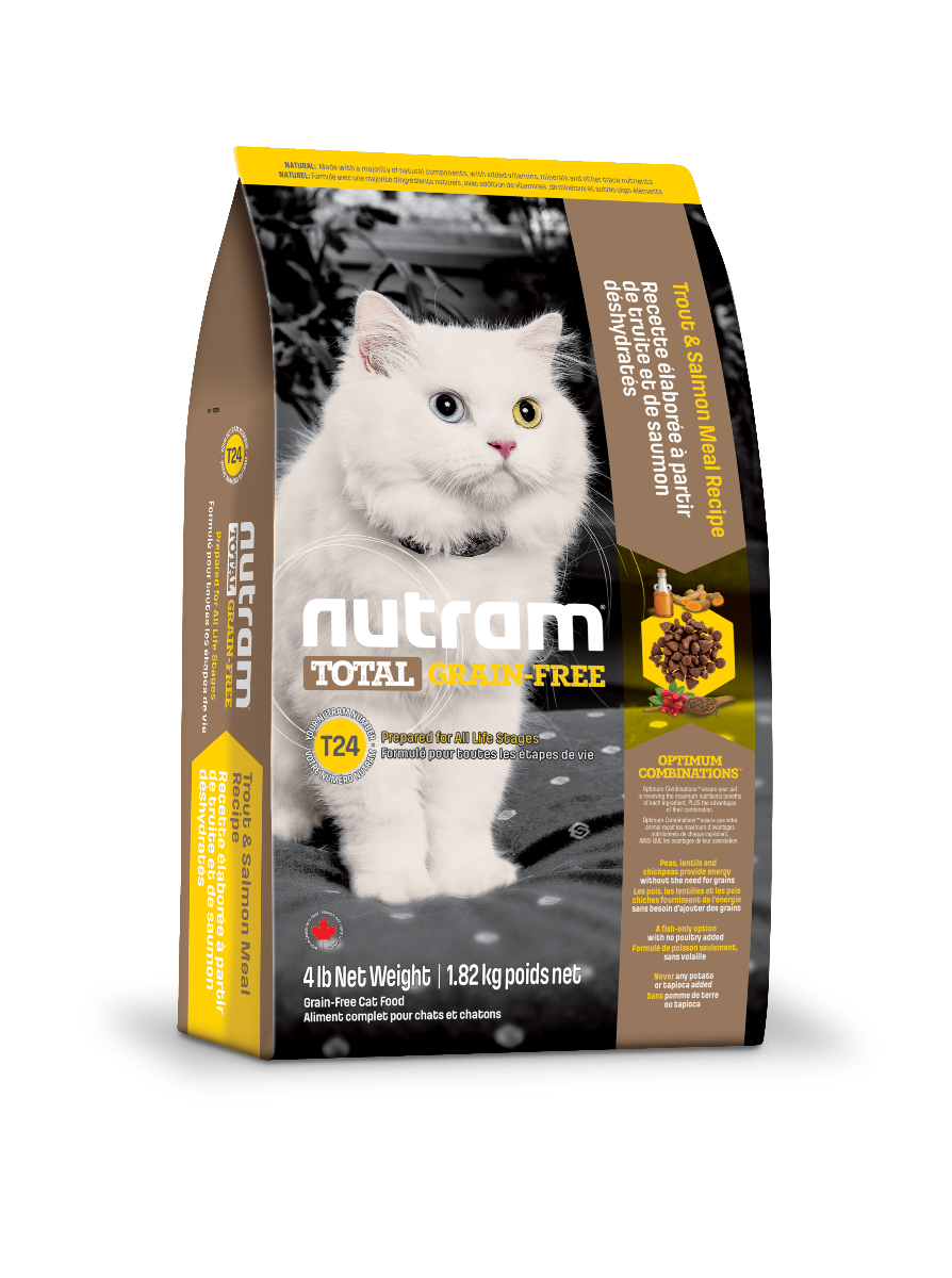 Nutram T24 Total Grain-Free Trout and Salmon  Cat Food