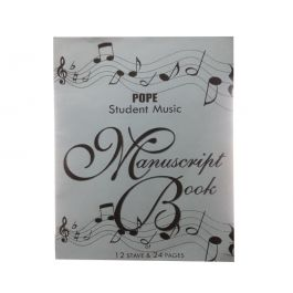 Pope Student Music Manuscript Book of 12 Stave & 24 Pages