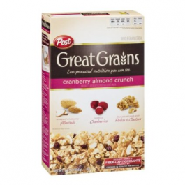 Post Great Grain Cranberry Almond Cereal 396g