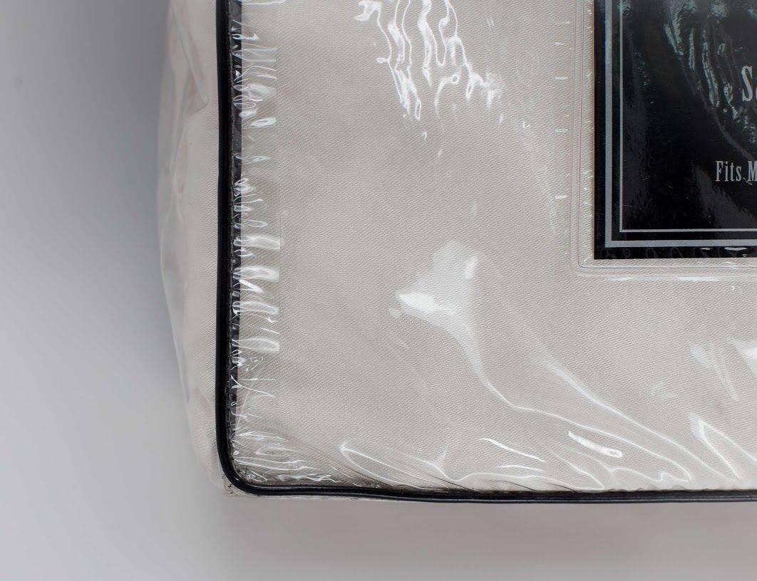 Satin Luxury Wrinkle Free Queen 4 Piece Satin Bedsheet Set in Ivory