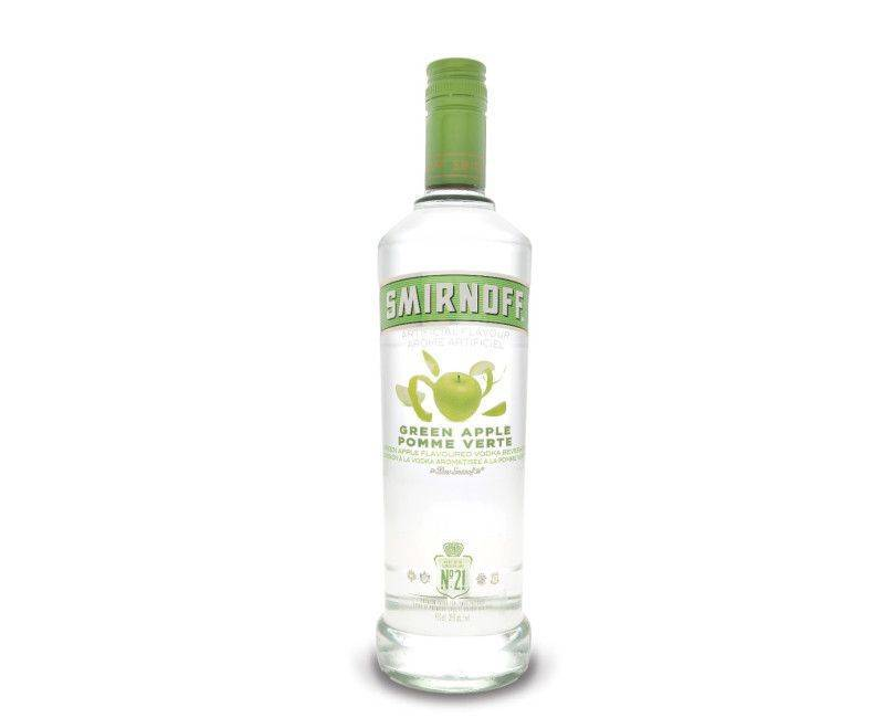 Smirnoff Green Apple Flavored Vodka 750ml