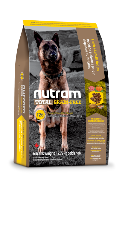 Nutram T26 Grainfree Lamb & Lentils 11.34kg
