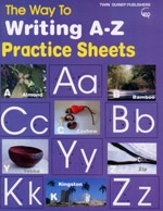 The Way to Writing A-Z practice sheet