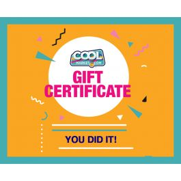 You Did It Gift Certificate $2,000 - $5,000