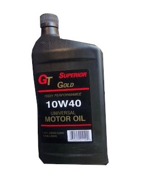 1 Quart GT Superior Gold 10W40 Universal Motor Oil