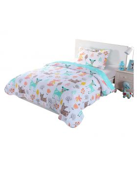 100% Cotton Kids Quilt Full Set