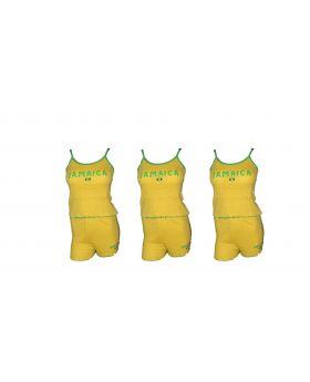 Yellow Spaghetti Top and Shorts Set