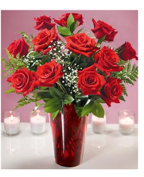 12 Roses Floral Arrangement